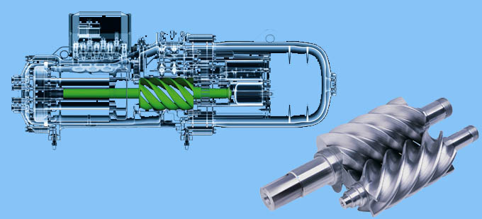 螺杆压缩机制冷原理螺杆压缩机空
